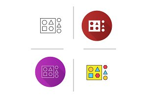 Shape sorter toy icon