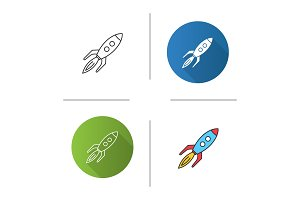 Toy rocket icon