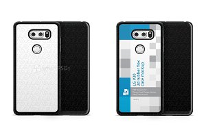 LG V30 2d Rubber Flex Case Mockup