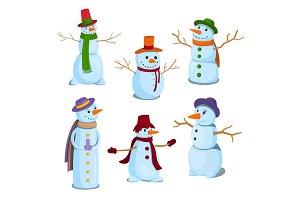 Christmas Snowman Character Set