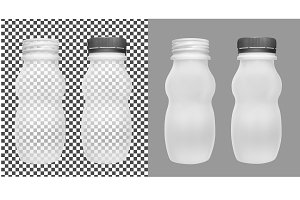 Transparent empty plastic bottle