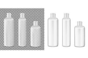 Plastic transparent lotion bottle