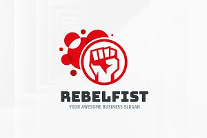 Rebel Fist Logo Template