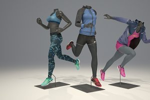 Female mannequin Nike pack 4