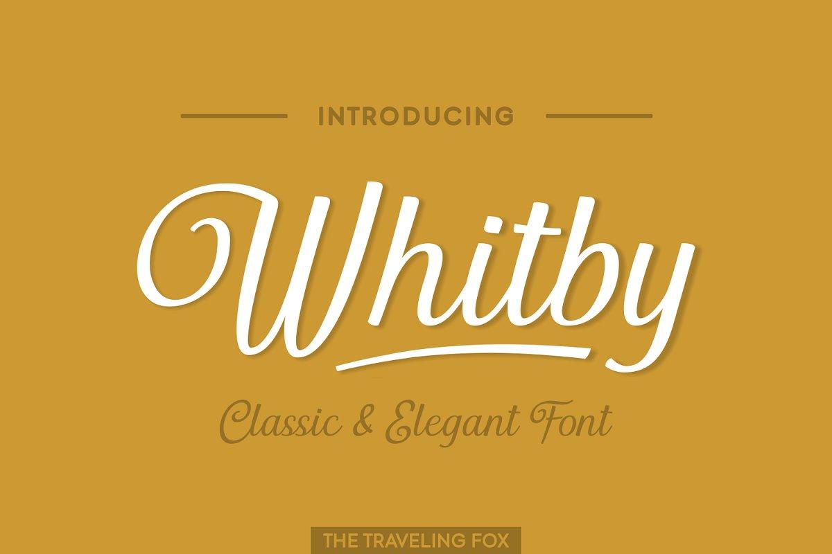 Whitby - A Classically Retro Script
