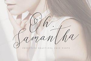 Oh Samantha - Seductive Chic Font