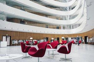 Modern business center waiting hall