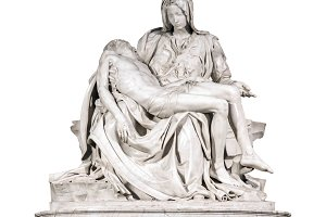 The Pieta sculpture by Michelangelo