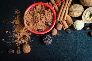 Cocoa powder with cinnamon
