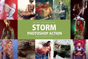 Strom Photoshop Action