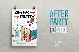 A poster on the topic of Afterparty