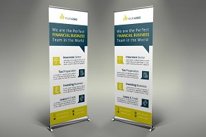 Financial Roll Up Banner