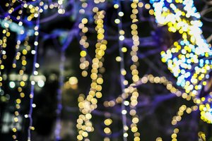 Bokeh of light decoration