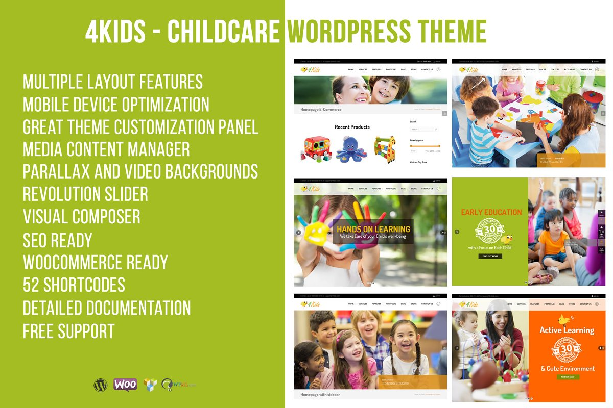 21+ Best Kids and Children WordPress Themes and Templates 2019 [ Download Now ]