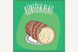 Hungarian kurtosh kalach with sugar