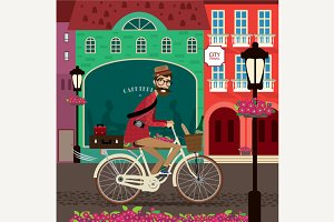 City travel by bicycle