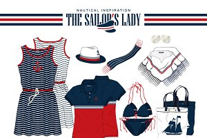 Woman Nautical Inspired Fashion Set