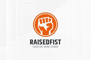 Raised Fist Logo Template