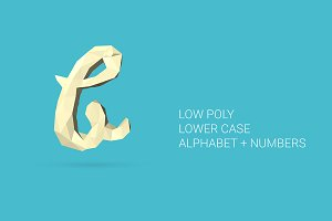 Vector Low Poly Alphabet NO.2