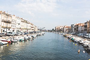 Canal In Sete, Southern France