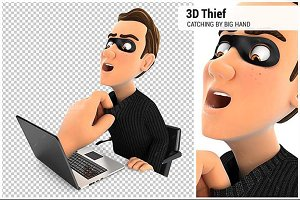 3D Big Hand Catching Hacker