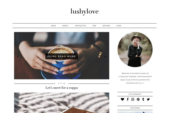 Wordpress Blog Theme - Lushy Love