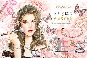 Make Up Clipart Set