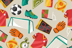 Soccer seamless patterns.