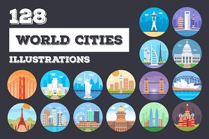 125+ World Cities Illustrations