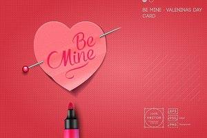 Be Mine - Valentine's Day Card