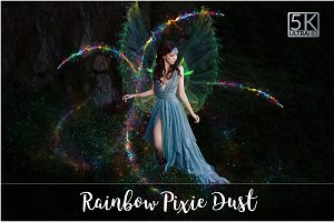5K Rainbow Pixie Dust Overlays