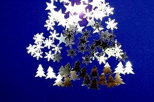 Xmas tree in a fantasy of fir trees