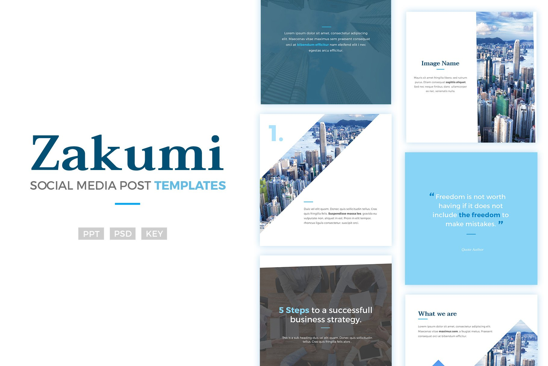 Social Media Post Templates Zakumi Instagram Templates - Social media post template