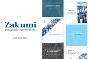 Social Media Post Templates - Zakumi