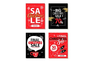 Really Big Christmas Sale Vector Illustration