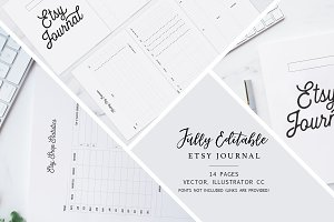 Fully Editable Etsy Journal