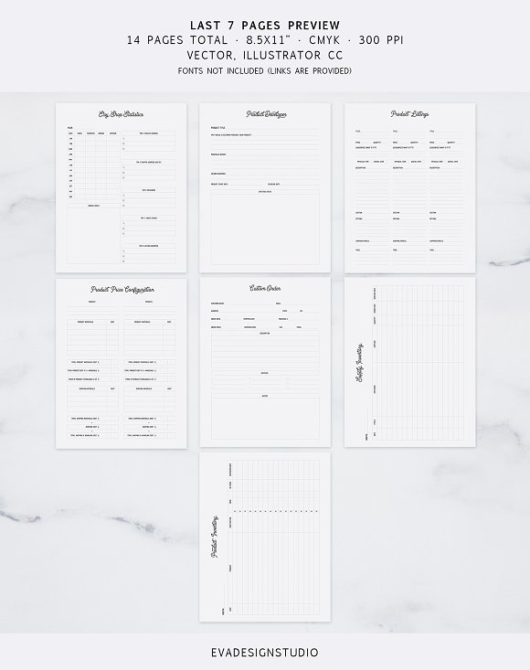 Fully Editable Etsy Journal in Stationery Templates - product preview 2