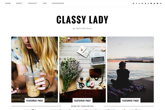 "Wordpress Theme ""Classy Lady"""
