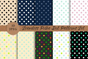 POLKA DOT seamless modern patterns
