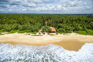 Aerial view of tropical beach