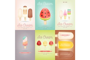 Ice Cream Posters Set