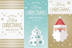 Merry Christmas Greeting Banners