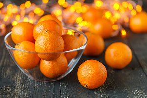 Fresh tangerine clementines