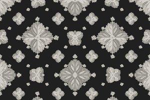 Stylized Floral Orante Seamless Pattern Mosaic