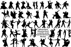 Ballroom Dance Silhouette AI EPS PNG
