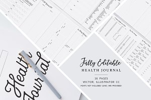 Fully Editable Health Journal ✎
