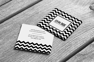 Modern Square Business Card
