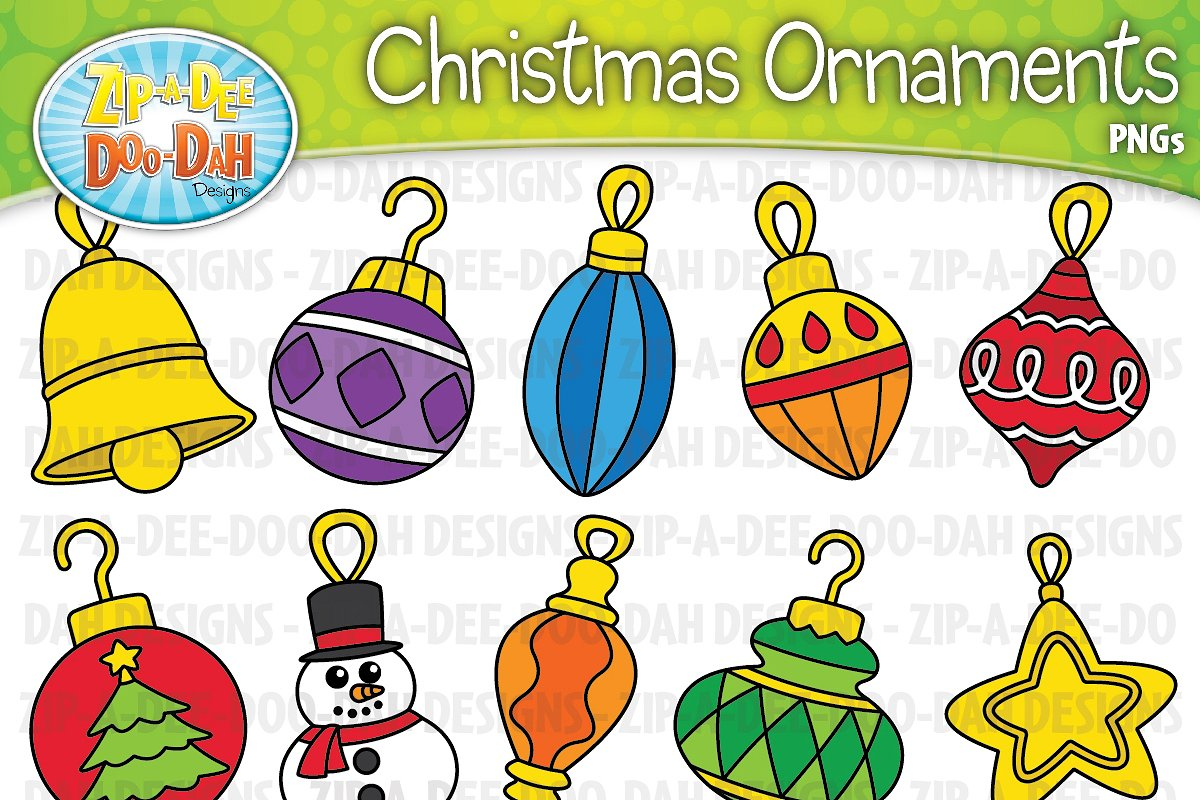 Christmas Ornaments Clipart Set
