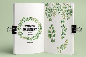 Pastel Greenery Clip Arts-Adiantum
