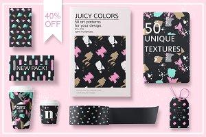 50 Art Seamless patterns.